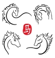 2014 horses collection vector image vector image