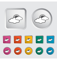 Weather icon Sun and cloud vector image vector image