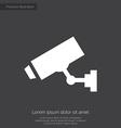 security camera premium icon white on dark backgro vector image