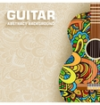 Abstract retro music guitar on the background of vector image