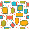 Seamless pattern with hand drawn sketchy doodle vector image
