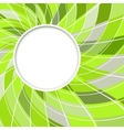Abstract white round shape vector image
