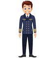 cute cartoon pilot standing vector image