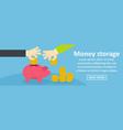 money storage banner horizontal concept vector image