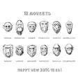 Monkeys set vector image
