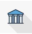 public bank building university or museum vector image
