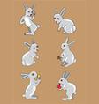 Rabbit set vector image