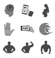 set of people icons and symbols in trendy flat vector image