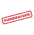 Fundraiser Text Rubber Stamp vector image