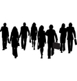business people walking away vector image
