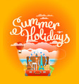 vacation travelling composition summer holidays vector image vector image