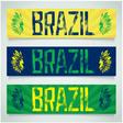 Graffiti banner - Brazil vector image