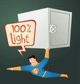 superhero carry a deposit box vector image vector image