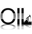 Production of oil vector image vector image