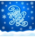 HAPPY NEW YEAR hand lettering handmade vector image