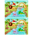 Spot the differences vector image