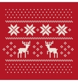 christmas winter pattern print for jersey vector image