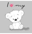 Cute Cartoon Teddy vector image vector image