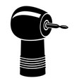 dental drill icon simple black style vector image