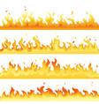 fire flame backdrop background set horizontal vector image