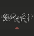 merry christmas text calligraphic vector image