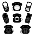 Set of phones silhouette vector image