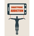 Smartphone addiction bad lifestyle concept vector image