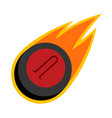 sport ball fire curling vector image