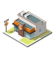 isometric icon infographic building vector image