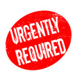 urgently required rubber stamp vector image
