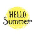 phrase hello summer vector image