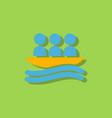 rafting kayaking team design in sticker style vector image