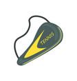tennis racket cover sport equipment cartoon vector image