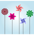 colorful pinwheel toys eps10 vector image