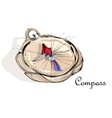 abstract compass vector image vector image