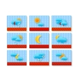 weather sign set vector image