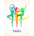 with ballet dancers vector image