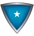 steel shield with flag galmudug vector image vector image