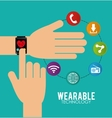 Wearable technology graphic vector image