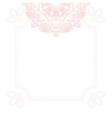 Light pink mandala card template background vector image