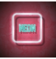 Neon sign vector image