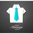 origami shirt with tie vector image