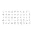 Set Flat Line Icons SEO vector image