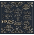 Set of golden headlines with Spring Quotes vector image