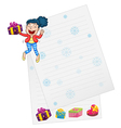 girl and paper vector image vector image