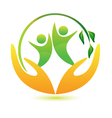 Healthy and happy people logo vector image