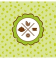 tea icons set with lemon seamless pattern on vector image