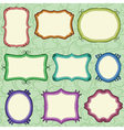 hand drawn frames vector image