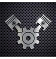 Flat metallic logo automotive engine vector image