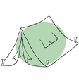 The tent vector image vector image
